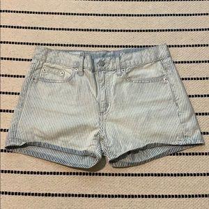 Pinstripe Gap shorts